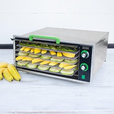 Raw Rutes - Square Rutes 5-Tray Stainless Steel Dehydrator