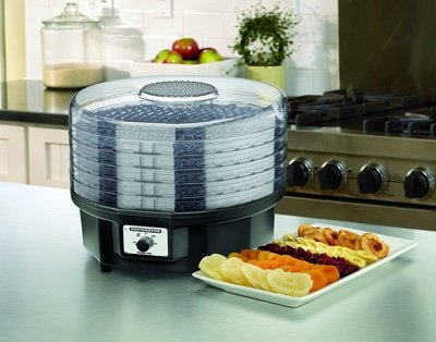 d)	Waring Pro DHR30 Professional 5-Tray Food Dehydrator