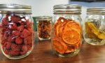Dried fruits in mason jars